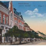 Satu Mare,Piata I.C.Bratianu,necirculata,animatie,trasura, 1917