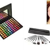 Trusa make up - Set/Trusa machiaj profesional 88 culori nr. 1 - Borseta cu 12 Pensule