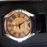 Emporio Armani ceas elegant - Ceas barbatesc Armani, Lux - elegant, Quartz, Piele, Analog, Nou