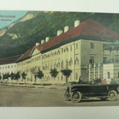 BAILE HERCULANE - HOTEL SEVERIN - IN PRIM PLAN O SPLENDIDA MASINA DE EPOCA - Carte Postala Banat 1904-1918