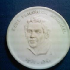 Medalie din ceramica Karl Friedrich Schinkel 1826. Diametrul 6 cm. Vezi descrierea - Jubiliare