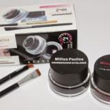 Tus ochi negru si maro Set Million Pauline 24 H format din 2 tusuri cremoase( eyeliner gel )