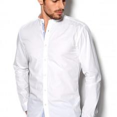 Camasa 100% bumbac, mansete bleu - SELECTED - art 16040198 alb - Camasa barbati Selected, Marime: L, XL, XXL