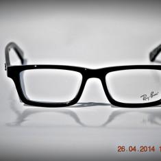 Rama ochelari Ray Ban, Unisex, Negru, Dreptunghiulare, Plastic, Rama intreaga - Rame de ochelari Ray Ban RB5501 2001 Rare print Logo interior