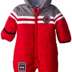 Combinezon US Polo Association Baby-Boys Infant Toned Puffer Bunting Snowsuit US Polo Assn, Marime: Alta, Culoare: Rosu