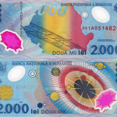 Bancnote Romanesti, An: 1999 - ROMANIA 2.000 lei 1999 polymer UNC!!!