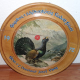 Tablou litografie/seriografie - Vanatoresc Cocos de munte Diametru 40cm