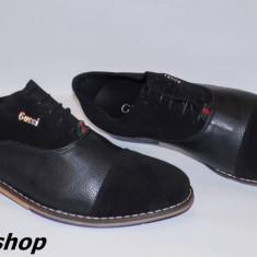 Pantofi GUCCI 100% Piele Naturala cu Piele Intoarsa - Model NOU de Sezon !!! - Pantofi barbati