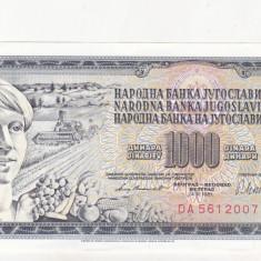 bnk bn iugoslavia 1000 dinari 1981 necirculata