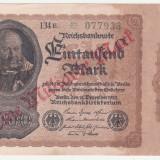 Bancnota Straine, Europa - (5) BANCNOTA GERMANIA - 1 MILLIARDE MARK 1922 (15 DECEMBRIE 1922), SUPRATIPAR, FILIGRAN CU SPIRALA, SERIE CU CIFRE MARI SI STELUTA, STARE BUNA