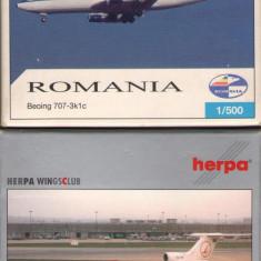 Lot machete avioane Herpa: Romavia + Tarom / Amintiri RSR / Herpa 1:500 / F446 - Macheta Aeromodel
