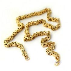 Lantisor placate cu aur - Lant inox suflat cu aur de 18k A1