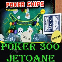 Set poker, Numar jetoane: 300 - SET DE POKER JOC DE POKER 300 JETOANE