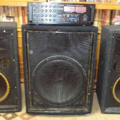 Echipament karaoke - Statie si boxe pt evenimente cadou 2 microfoane wifi statia are 1000rms, boxele300 si subw700rms detalii complete la tel, ---0784268534---