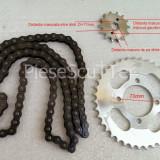 Kit / Set Pinioane / Pinion Mic + Pinion Mare + Lant Transmisie ATV ( 107cc / 110cc / 125cc / 150cc / 200cc / 250cc / 300cc ) 58 zale