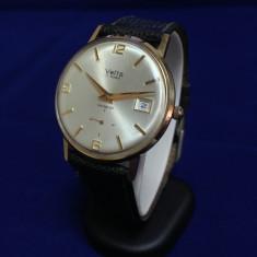 Ceas dama, Diametru carcasa: 33, Data, Aur, Mecanic-Manual, Elegant - Ceas de aur Vetta Incabloc (0065)