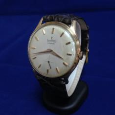 Ceas barbatesc, Elegant, Mecanic-Automatic, Aur, Piele, Analog - Ceas de aur Eberhard (0064)