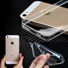 Husa Telefon Apple, Transparent, Gel TPU, Fara snur, Carcasa - Husa iPhone 5 5S SE TPU 0.3mm Transparenta