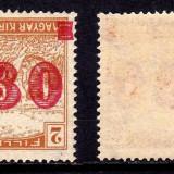 Timbre Romania - Ocupatia in Timisoara - Temeswar 1919 - EROARE SUPRATIPAR RANVERSAT - MNH