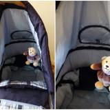 Landou bebe cu manere de la ABC Design + cortina de ploaie; multiple reglaje