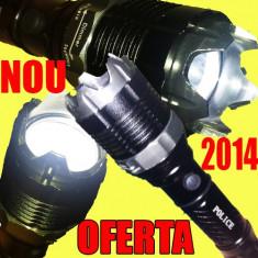 Lanterna POLICE LED CREE+ZOOM TELESCOPIC+ 3x INCARCATOR