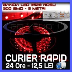 Iluminat decorativ ZDM - ROLA BANDA 300 LED - LEDURI SMD 3528 ROSU (ROSIE, ROSI) - 5 METRI, IMPERMEABILA (WATERPROOF), FLEXIBILA
