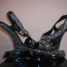 Sandale cu platforma - model Lady Gaga! - Sandale dama, Marime: 37, Culoare: Negru