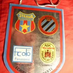 Fanion Fotbal -Turneul International Fotbal -Cupa Steaua Bucuresti 4-5 aug.1987
