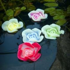 Lumanare plutitoare Trandafir mic in diferite culori - Decoratiuni nunta