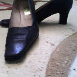 Pantofi negri-piele naturala - Pantofi barbati, Negru