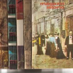 (C5098) MAGAZIN ISTORIC ANULVI, 1972, NR. 1, 2, 3, 4, 5, 6, 7, 8, 9, 10, 11 - Revista culturale