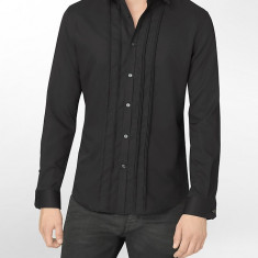 Camasa Calvin Klein Dobby Shirt masura M L (reducere finala) - Camasa barbati Calvin Klein, Culoare: Negru