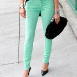 Blugi dama - Blugi H&M / jeans menta - light mint / marimea 25.