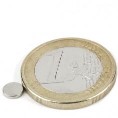 Magnet neodim disc, diametru 5 mm, putere 290 g