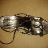 Sandale dama, Marime: 39, Argintiu - Sandale elegante, argiuntiu inchis, mar 39