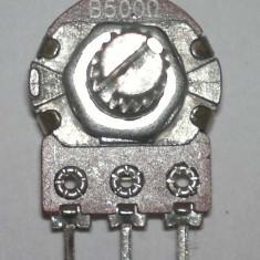 Potentiometru rotativ simplu 500 ohm - Compatibil Arduino / PIC / AVR