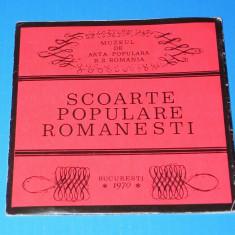 SCOARTE POPULARE ROMANESTI. CATALOGUL EXPOZITIEI ORGANIZATE IN MUZEUL DE ARTA POPULARA IN 1970 (01164) - Carte Arta populara