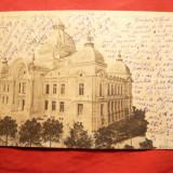Ilustrata clasica Bucuresti - Casa de Depuneri si Consemnatiuni, circulat 1901 - Carte Postala Muntenia pana la 1904, Circulata