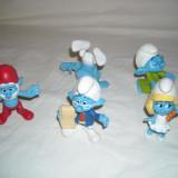 Strumfi, smurfs - 5 figurine mari strumf din cauciuc - set 11 - Figurina Desene animate