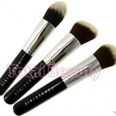 Pensula make-up - Trusa 3 pensule machiaj profesionale Fraulein38 Germania Kabuki Contur si Blend