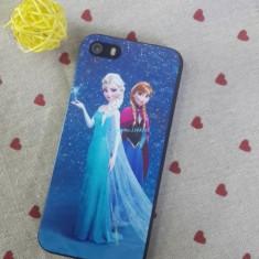 Husa/carcasa frozen Ana si Elsa livrare imediata.exact ca in poza - Husa Telefon Apple, Albastru