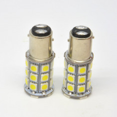 BEC ptr. masina cu LED stop si frana pereche de 2 bucati lumina alba