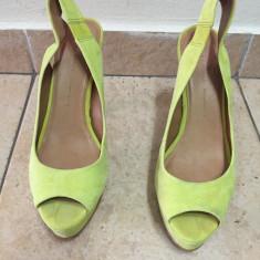 Sandale ZARA, verde neon, super comode, mar.39!! - Sandale dama