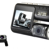 "Camera Video Auto Dubla Allwinner F20 2.0"" TFT Card 8GB Verificare Colet, 32GB, Wide, Double, HD, miniUSB"