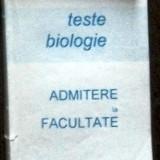 Teste admitere facultate - TH. LUNGIANU, L. CALMAC - TESTE BIOLOGIE. ADMITERE LA FACULTATE