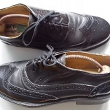 "Pantofi sport ""TOPART"" - Piele nat .-NOI - Pantofi barbati, Marime: 43, Piele naturala, Negru"