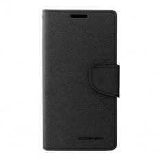Husa Telefon Atlas, Negru, Textil, Toc - Toc My-Fancy Sony Xperia M4 Aqua Negru