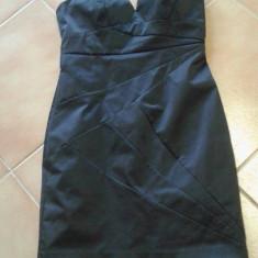Rochie H&M..superba - Rochie de seara H&m, Marime: 38, Culoare: Negru, Scurta, Cu bretele, Satin