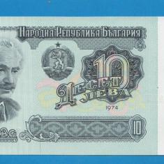 Bulgaria 10 leva 1974 UNC, An: 1974