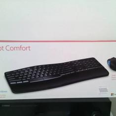 Tastatura & Mouse Wireless Microsoft, Ergonomica, Fara fir, USB